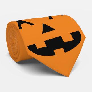 Halloween Jack O Lantern Pumpkin Face Neck Tie