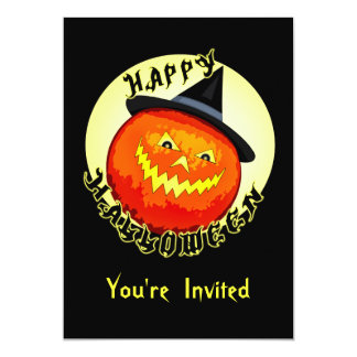 Halloween Jack-O-Lantern Pumpkin  Invitation