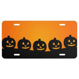 Halloween Jack-O-Lantern Pumpkin Patch License Plate