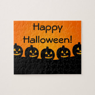 Halloween Jack-O-Lantern Pumpkin Patch Parade Jigsaw Puzzle