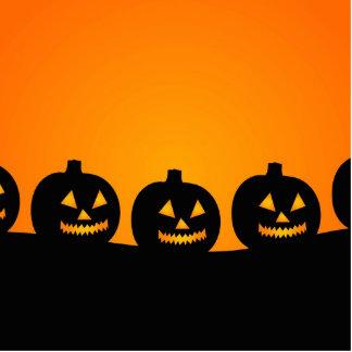Halloween Jack-O-Lantern Pumpkin Patch Photo Sculptures
