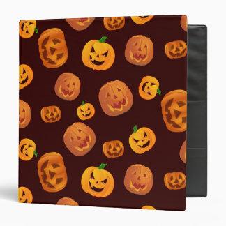 Halloween Jack-O-Lantern Pumpkin Pattern 3 Ring Binder