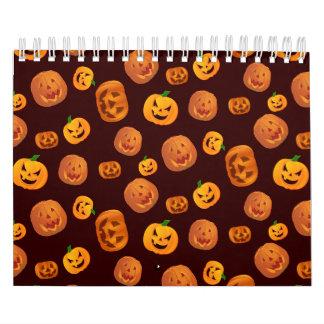Halloween Jack-O-Lantern Pumpkin Pattern Calendar