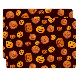 Halloween Jack-O-Lantern Pumpkin Pattern Card