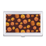Halloween Jack-O-Lantern Pumpkin Pattern Case For Business Cards