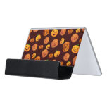 Halloween Jack-O-Lantern Pumpkin Pattern Desk Business Card Holder