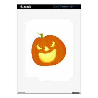 Halloween Jack-o-Lantern Pumpkin Decal For iPad 3