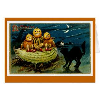 Halloween Jack-o-Lantern Pumpkin Trio Greeting Card