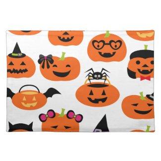 Halloween Jack O Lantern Pumpkins Place Mats