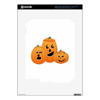 Halloween Jack-o-Lantern Pumpkins Decals For iPad 3