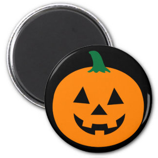 Halloween Jack O Lantern round magnet