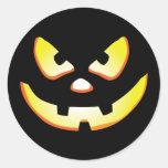 Halloween Jack-O-Lantern Round Stickers