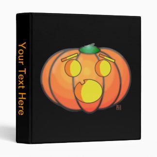 Halloween Jack O' Lantern Scared Pumpkin Vinyl Binder