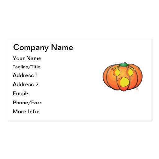 Halloween Jack O' Lantern Scared Pumpkin Business Cards