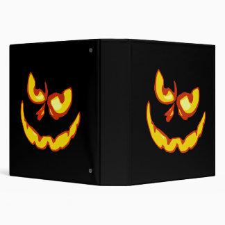 Halloween Jack O Lantern Scary Face 3 Ring Binder