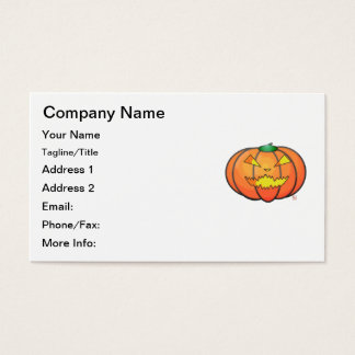 Halloween Jack O' Lantern Sinister Grin Pumpkin Business Card