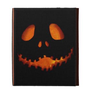 Halloween Jack-o-Lantern Skeleton Grin iPad Case