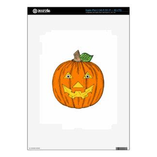 Halloween Jack-O-Lantern iPad 3 Decal