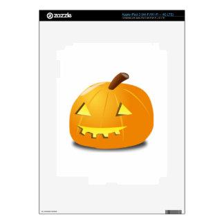 Halloween Jack-o-Lantern iPad 3 Decals