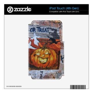 Halloween Jack O' Lantern Skin For iPod Touch 4G