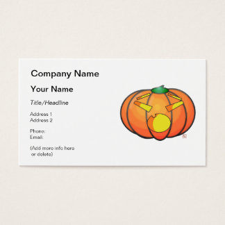 Halloween Jack O' Lantern Surprised Pumpkin Business Card