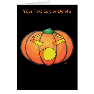 Halloween Jack O' Lantern Surprised Pumpkin Greeting Card