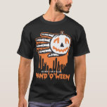 Hand shaped Halloween Jack O Lantern t-shirt
