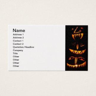 Halloween Jack O Lantern Totem Pole Business Card
