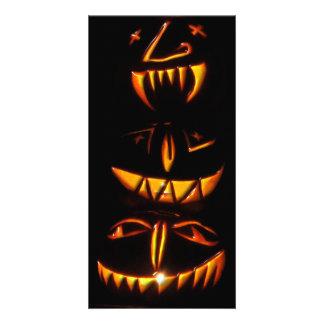 Halloween Jack O Lantern Totem Pole Card