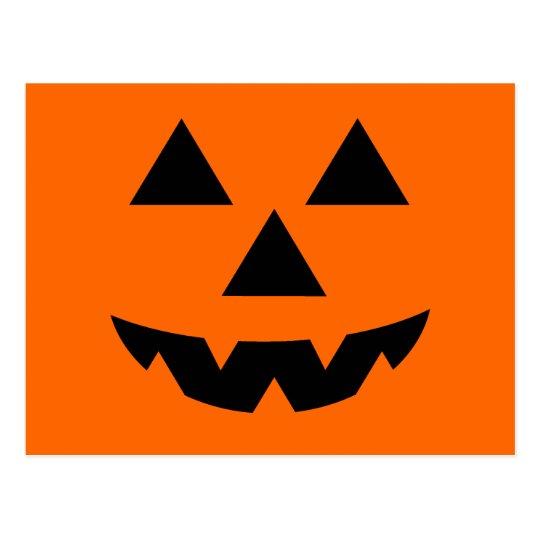 Halloween Jack-O-Lantern Trick or Treat Postcard