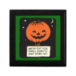 Halloween Jack-o-Lantern Trinket Boxes