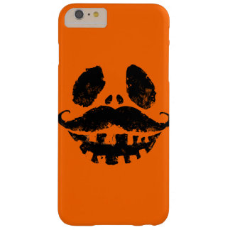 Halloween Jack-o-lantern with mustache Barely There iPhone 6 Plus Case