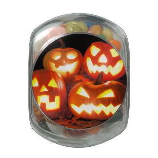 Halloween Jack O Lanterns Jelly Belly Candy Jar