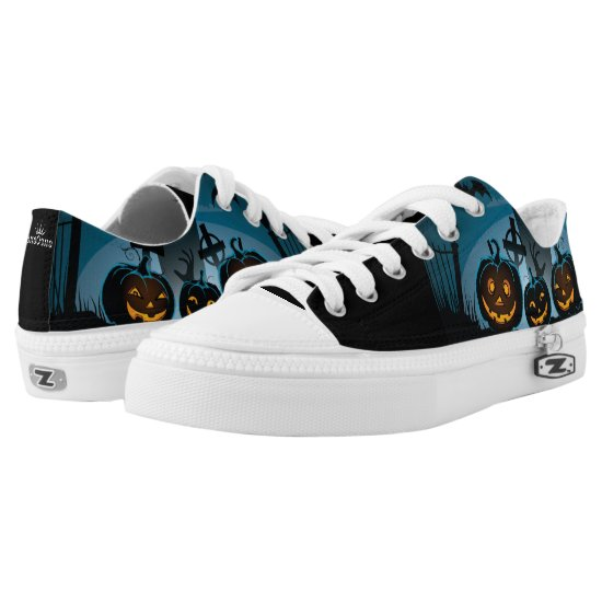 Halloween Jack O Lanterns Low-Top Sneakers