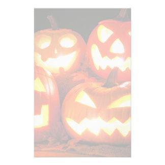 Halloween Jack O Lanterns Stationery