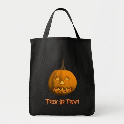 Halloween: Jack-O-Linterna: Bolso del truco o de l Bolsa Tela Para La Compra
