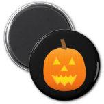 Halloween: Jack-O-Linterna: Calabaza: Imán Redondo 5 Cm