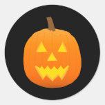 Halloween: Jack-O-Linterna: Calabaza: Etiqueta Redonda