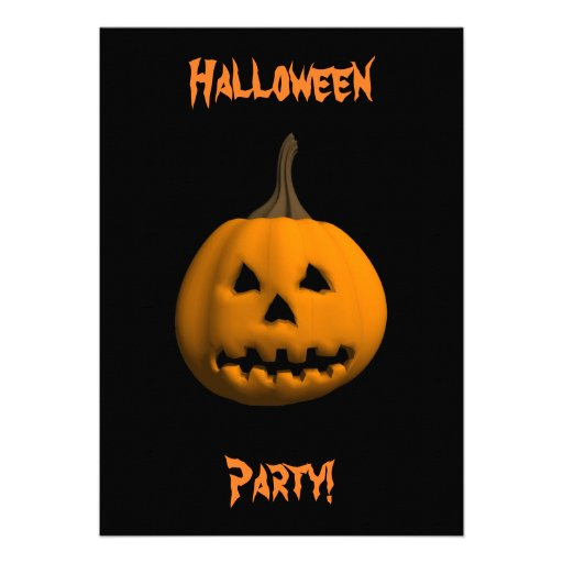 Halloween: Jack-O-Linterna: Tarjeta de la invitaci Invitaciones Personalizada