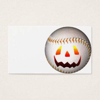 Halloween Jack O'Lantern Baseball Business Card