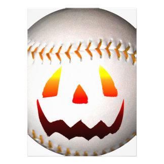 Halloween Jack O'Lantern Baseball Invite