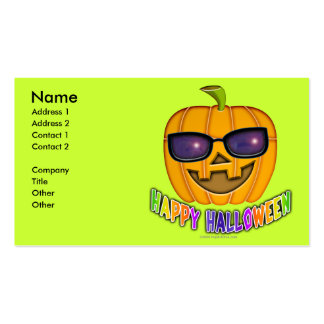 Halloween Jack O'Lantern Business Cards