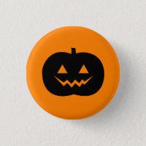 Halloween Jack O'Lantern Pinback Button