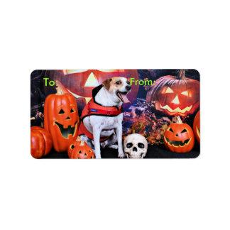 Halloween - Jack Russell - Trey Custom Address Labels