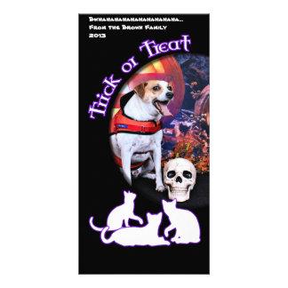 Halloween - Jack Russell - Trey Photo Greeting Card