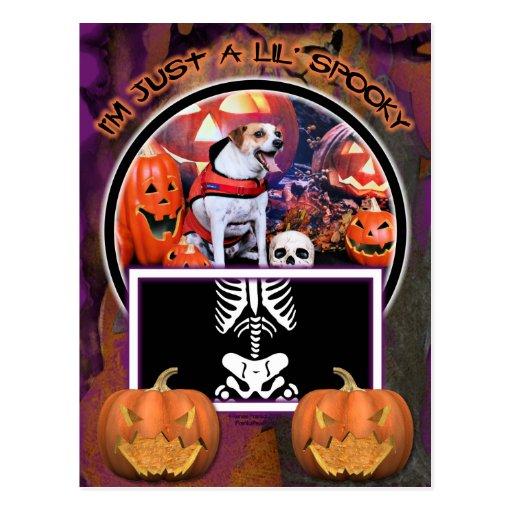 Halloween - Jack Russell - Trey Tarjeta Postal