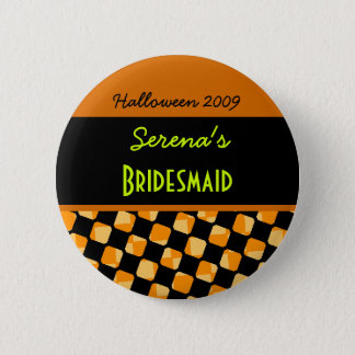 Halloween Jack Wedding Party Pinback Button