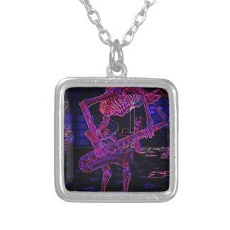 Halloween Jazz Saxophone Skeleton Musician Gifts Necklace