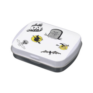 Halloween Jelly Belly Filled Candy Tin