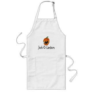 Halloween Jerk O Lantern Long Apron